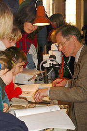 A fossil identification workshop