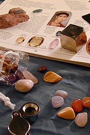 Semi-precious gemstone pebbles on sale