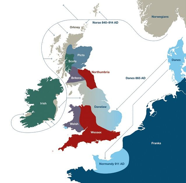 Map Of England 450 Ad.Settlers Genetics Geography And The Peopling Of Britain