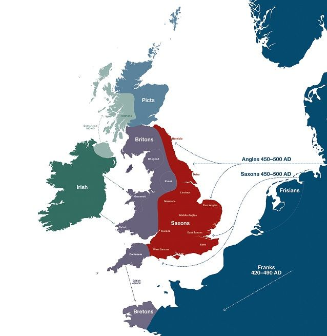 A Map Of Uk.Settlers Genetics Geography And The Peopling Of Britain